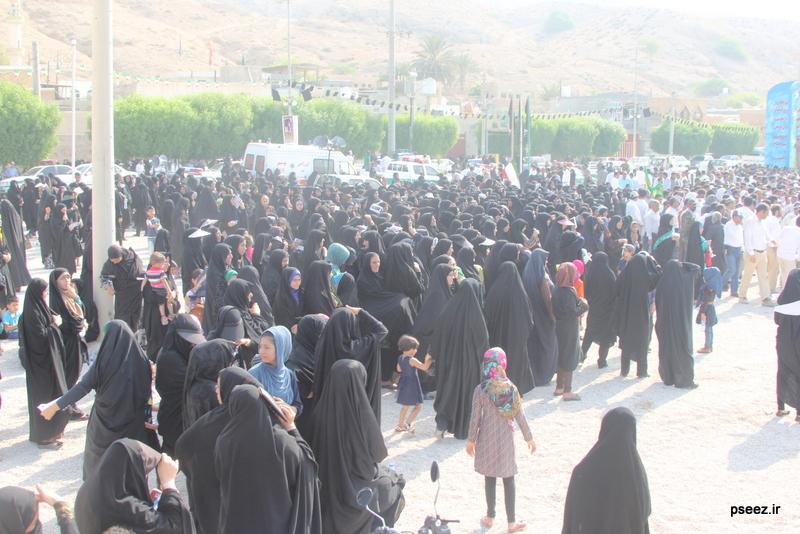 مراسم خاکسپاری پیکر دو شهید گمنام شهرستان عسلویه 1