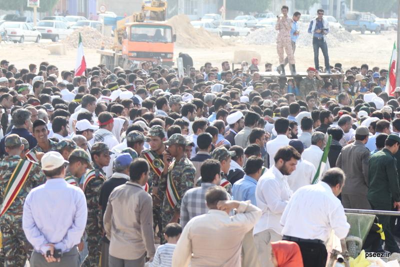 مراسم خاکسپاری پیکر دو شهید گمنام شهرستان عسلویه 3