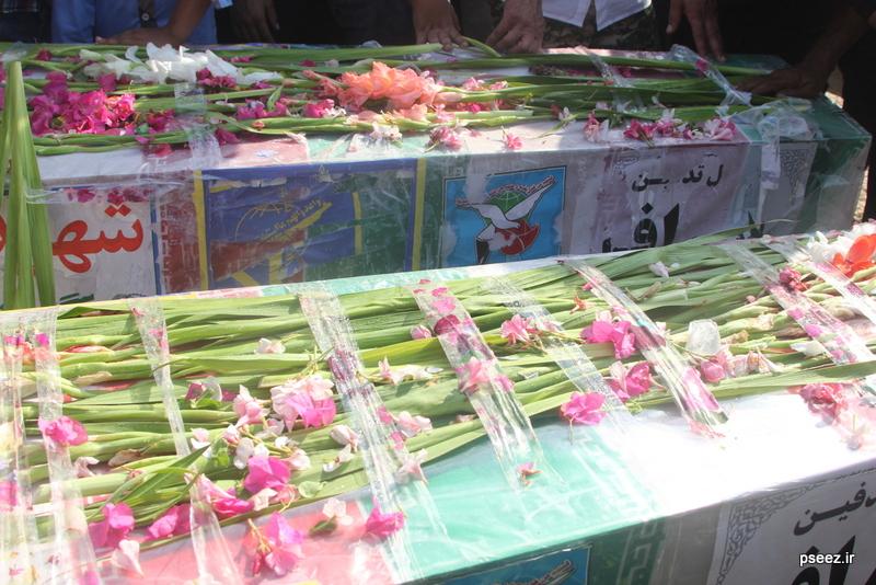 مراسم خاکسپاری پیکر دو شهید گمنام شهرستان عسلویه 5