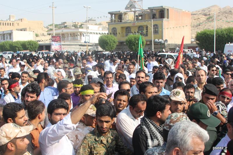 مراسم خاکسپاری پیکر دو شهید گمنام شهرستان عسلویه 6