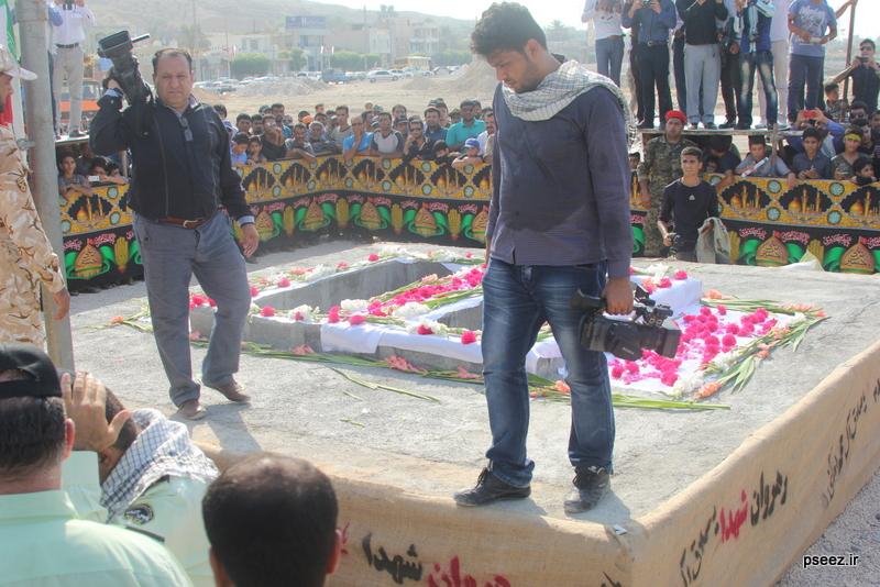 مراسم خاکسپاری پیکر دو شهید گمنام شهرستان عسلویه 7