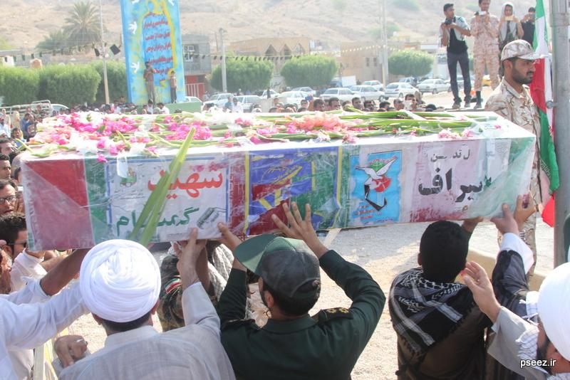 مراسم خاکسپاری پیکر دو شهید گمنام شهرستان عسلویه 10