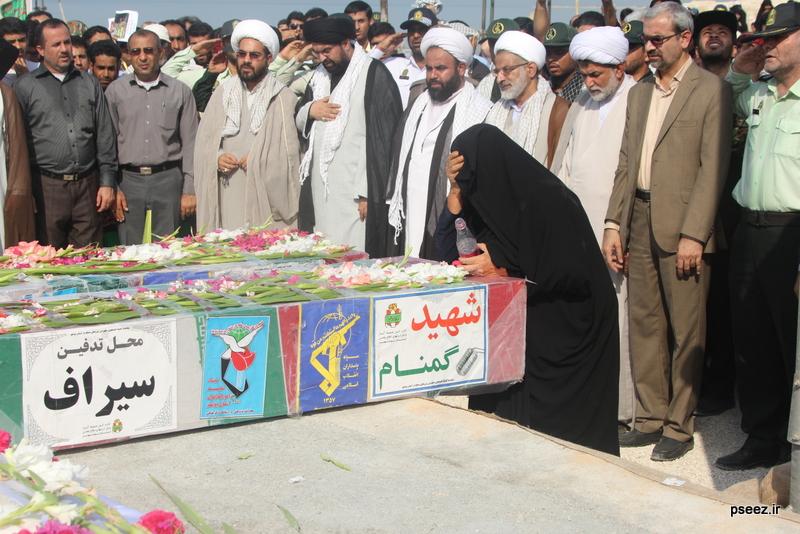 مراسم خاکسپاری پیکر دو شهید گمنام شهرستان عسلویه 14