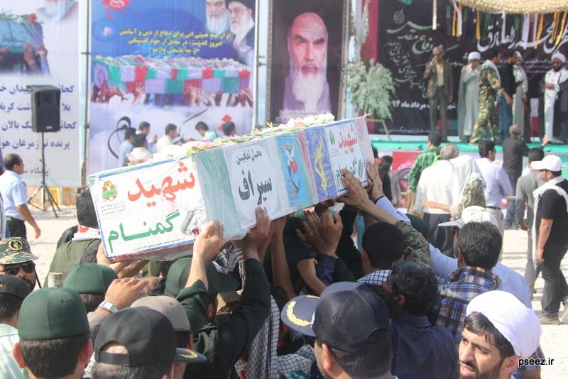 مراسم خاکسپاری پیکر دو شهید گمنام شهرستان عسلویه 18