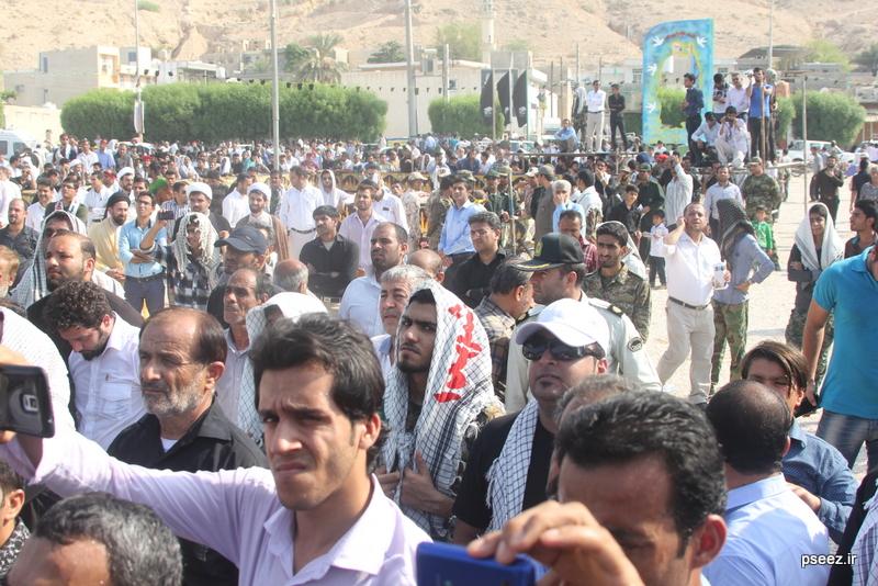 مراسم خاکسپاری پیکر دو شهید گمنام شهرستان عسلویه 19