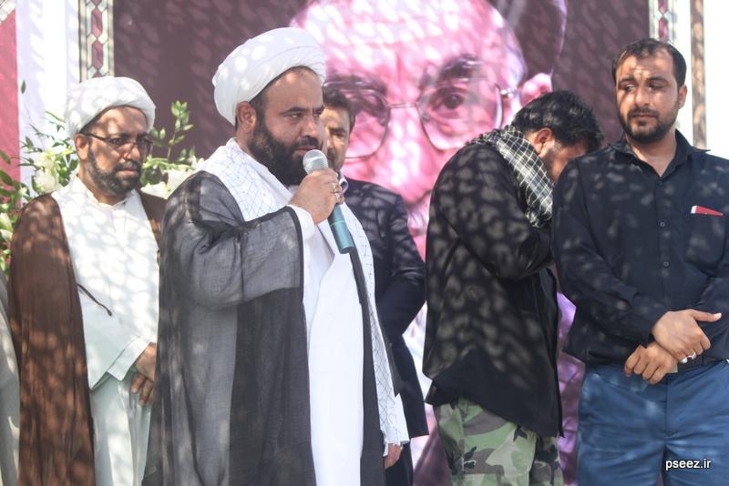 مراسم خاکسپاری پیکر دو شهید گمنام شهرستان عسلویه 20