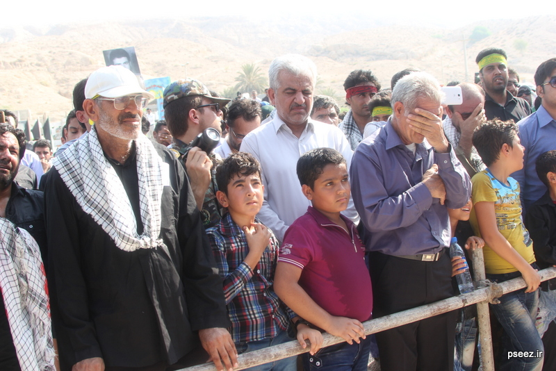 مراسم خاکسپاری پیکر دو شهید گمنام شهرستان عسلویه 21