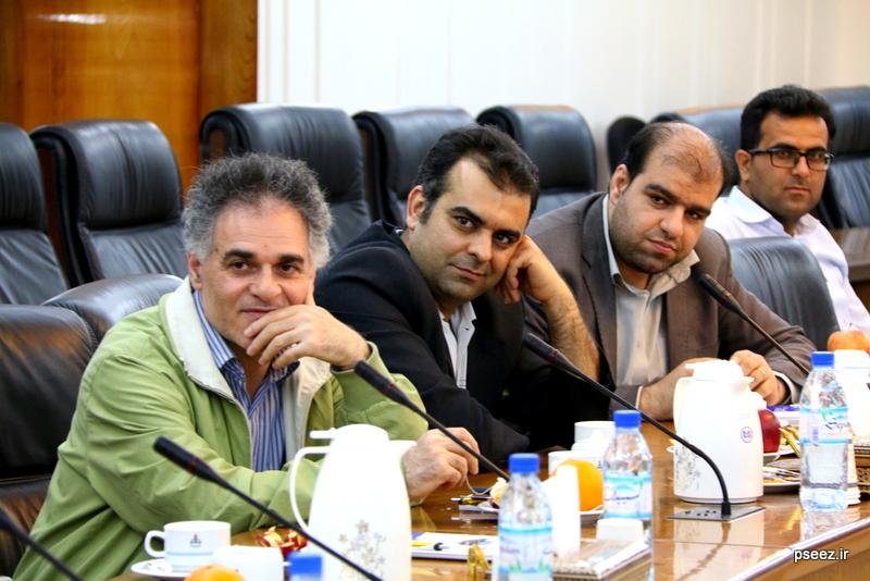 بادید سردبیران و خبرنگاارن ارشد صدا و سیمای جمهوری اسلامی ایران از منطقه ویژه پارس 14