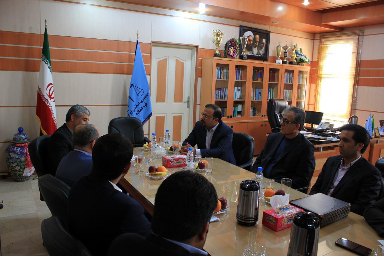 دیدار مدیر عامل سازمان منطقه ویژه اقتصادی انرژی پارس با رییس دادگستری استان بوشهر 3