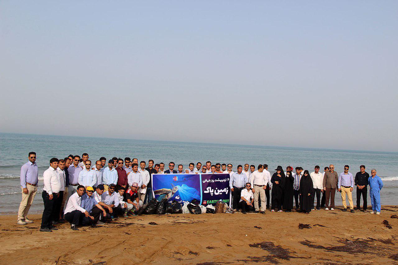 پاکسازی دریا از زباله در پارس شمالی 1
