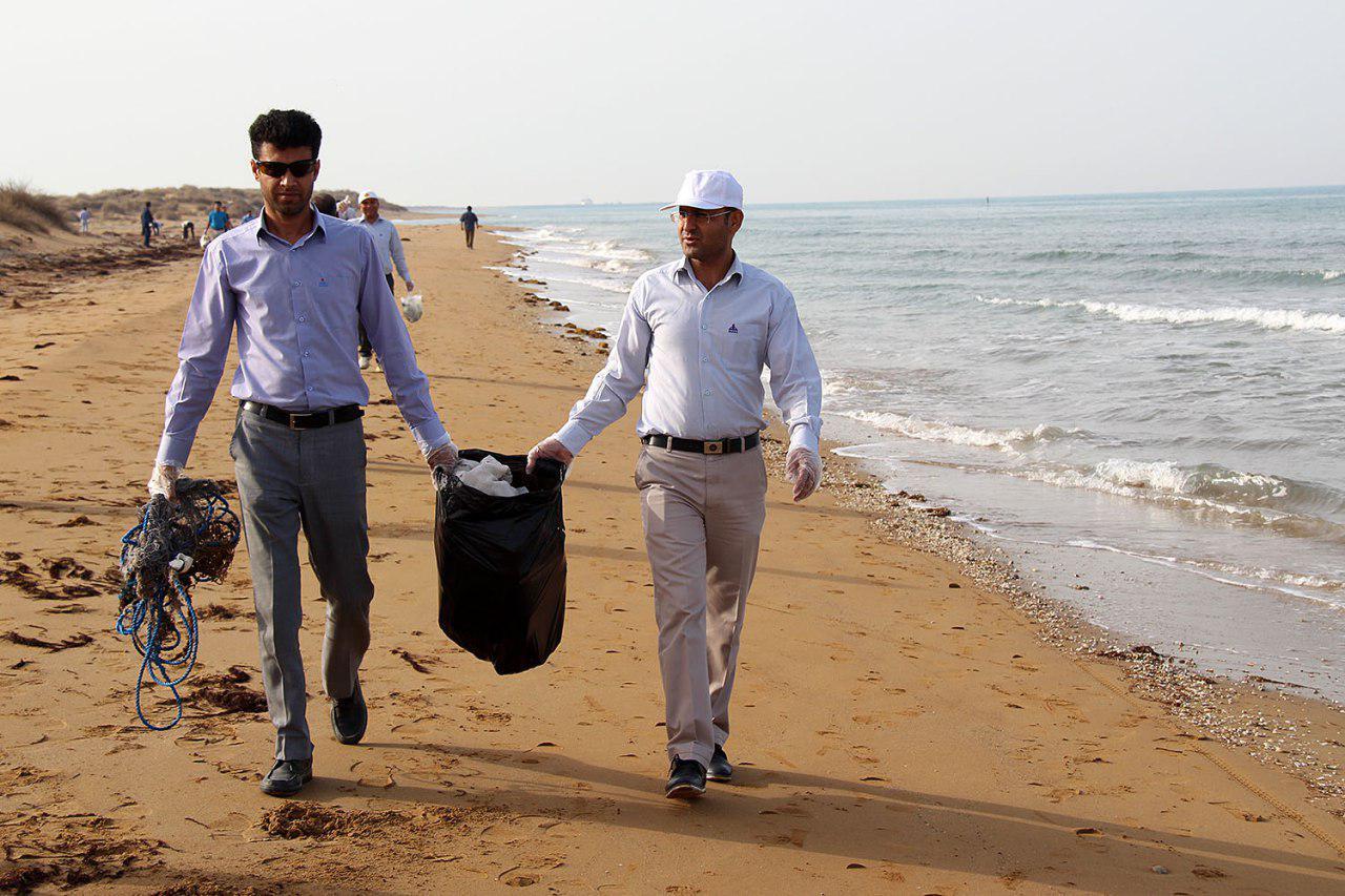 پاکسازی دریا از زباله در پارس شمالی 4